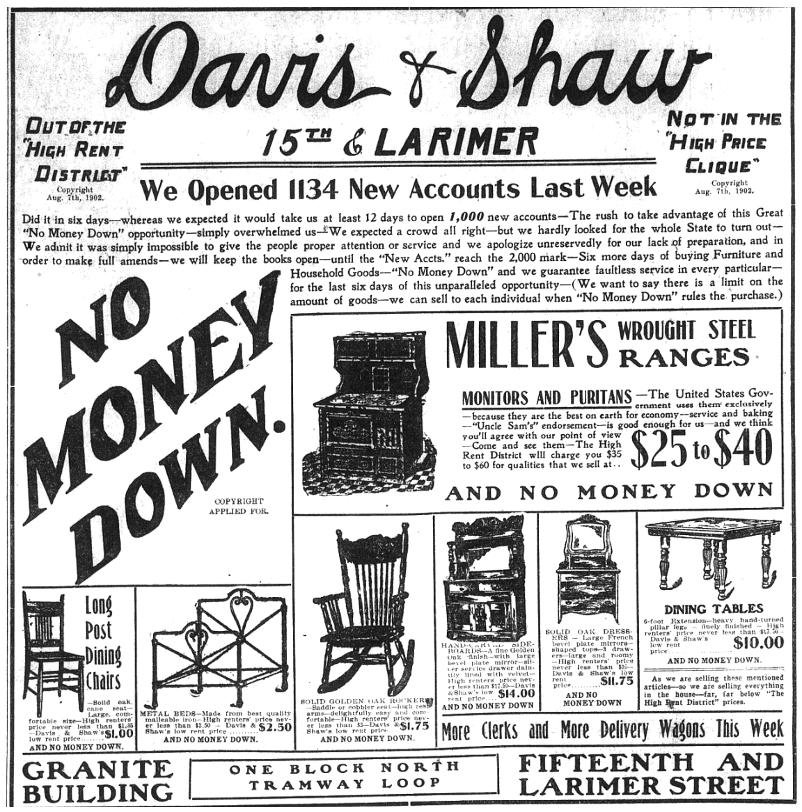 Davis & Shaw Furniture Company: Denver's 20th Century