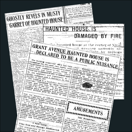 Newspaper Reports Of A Haunted House, 1902-1904