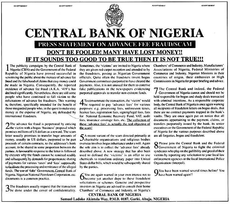 Image result for nigeria scam