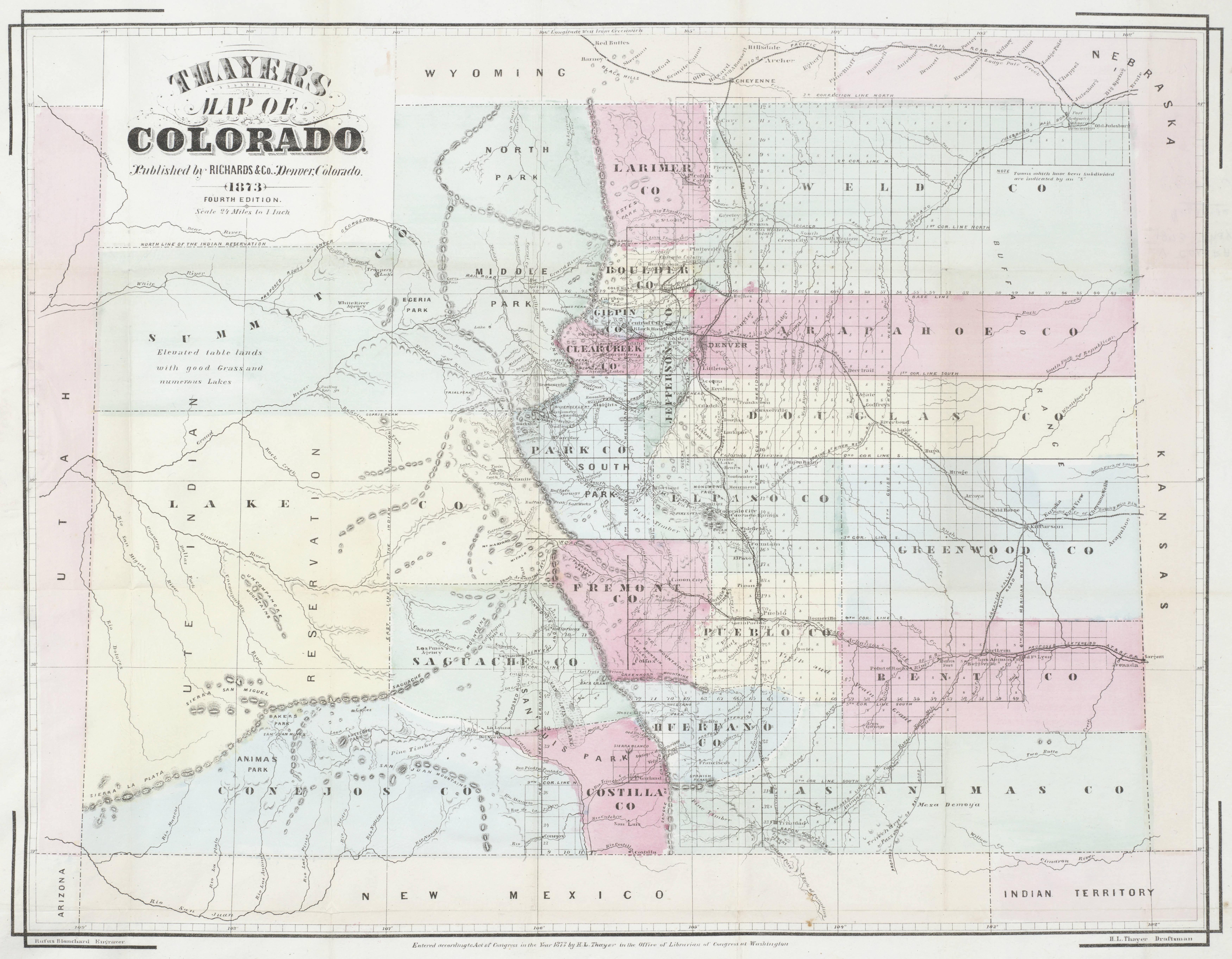 Denver Map on