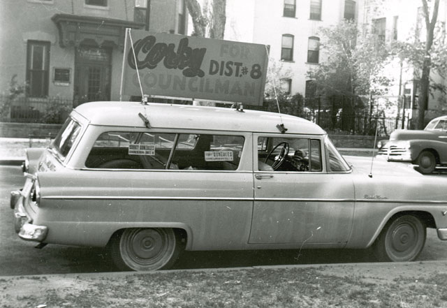 Rodolfo corky gonzales denver public library history station wagon with sign corky for councilman district 8 fandeluxe Document