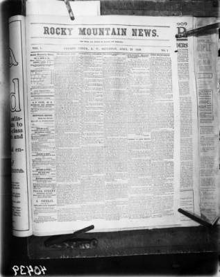 The Rocky Mountain News At The Denver Public Library