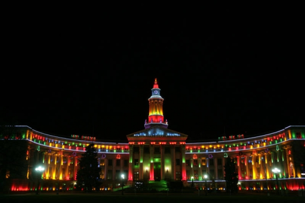 wow photo wednesday holiday light displays denver public library history. Black Bedroom Furniture Sets. Home Design Ideas