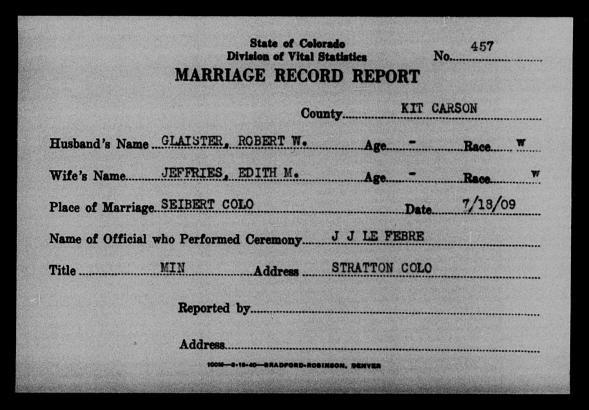 Colorado Marriages Go Online | Denver Public Library History