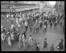 1950s street scenes in Denver