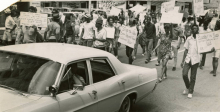 Behind the Photo: Demonstrators March to the Denver Police Building, July 22, 1967