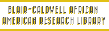 Blair Caldwell African American Research Library page header